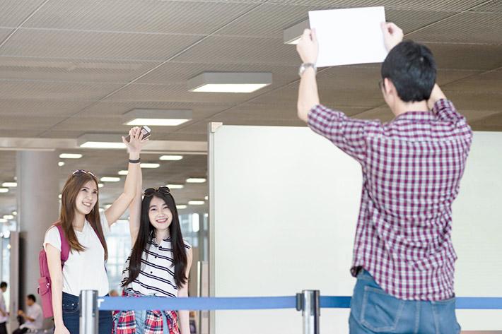 空港での出迎えイメージ