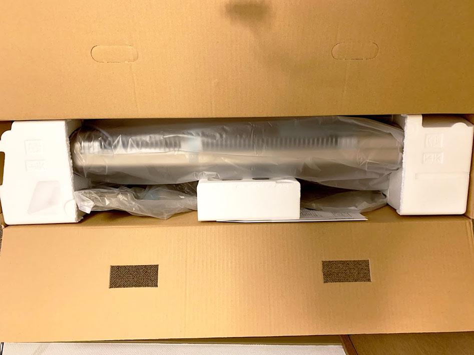 電気ストーブCORONAのDH-C91A(N)の梱包状況