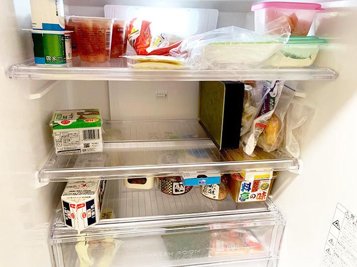 整頓された冷蔵庫